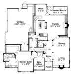 Mediterranean House Plan Deveroux Floor