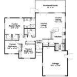 Mediterranean House Plan Florosa Floor