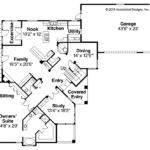 Mediterranean House Plan Pasadena First Floor