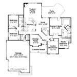 Mediterranean House Plan Roselle Floor