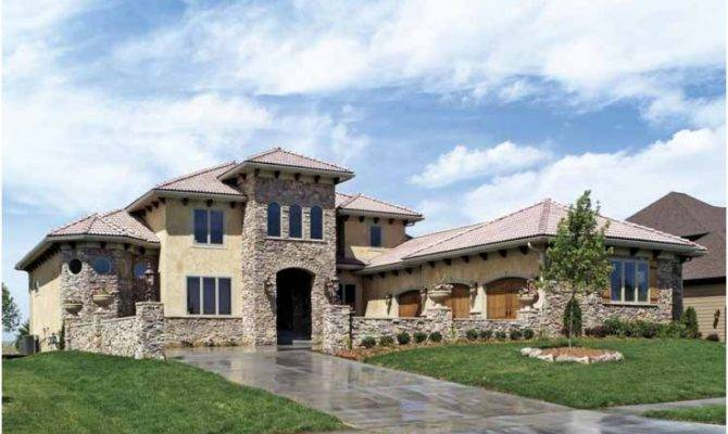 Mediterranean House Plan Tuscan Style Home Square Feet
