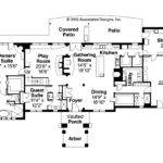 Mediterranean House Plan Vercelli Floor