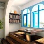 Mediterranean Interior Design Study Blue Windows