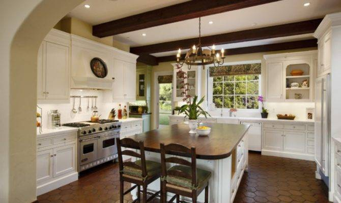 Mediterranean Kitchen Design Santa Barbara Spanish