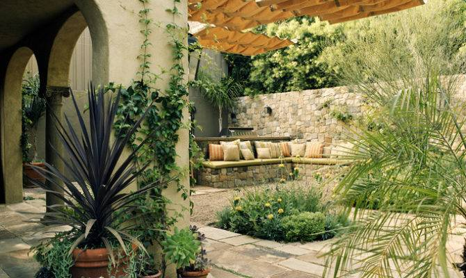 Mediterranean Patio Tommy Chambers Interiors Inc