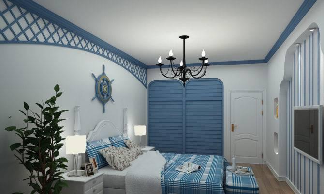 Mediterranean Style Bedroom Interior Design Rendering