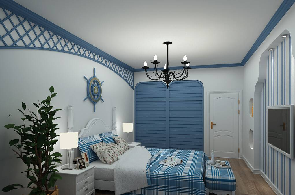 Mediterranean Style Bedroom Interior Design Rendering House Plans 48758