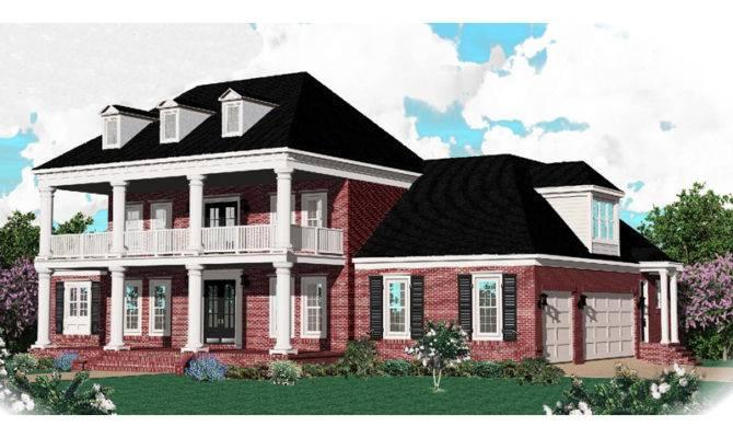 Melrose Southern Plantation Home Plan House