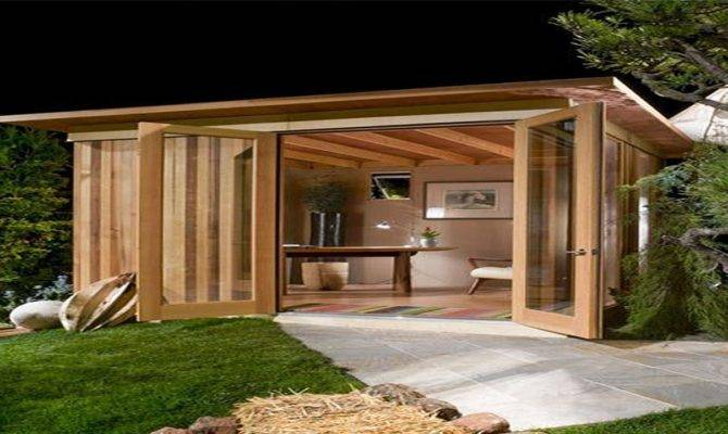 Metal Outdoor Buildings Modern Cabana Design Back Yard
