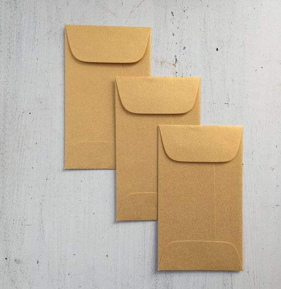 Metallic Gold Envelopes Mini Coin Envelope