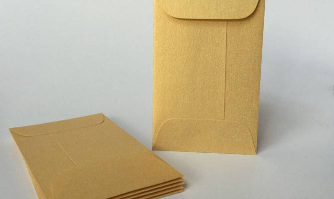 Metallic Gold Envelopes Mini Coin Envelope