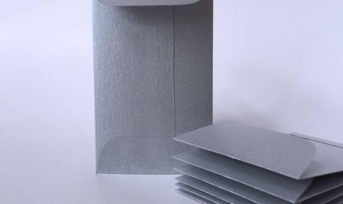 Metallic Silver Envelopes Mini Envelope Business