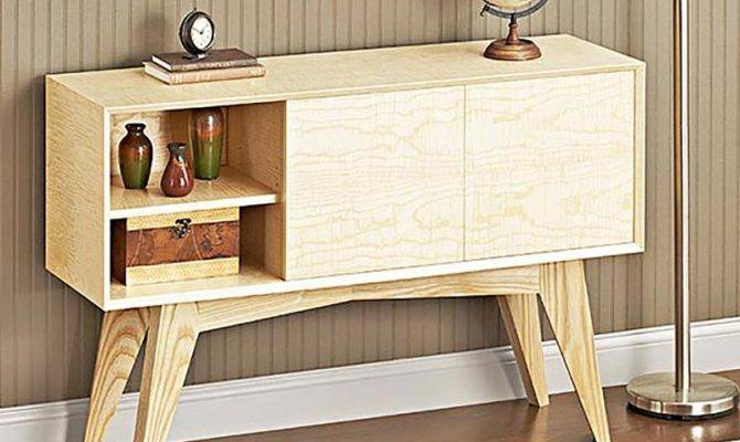 Mid Century Modern Credenza Woodworking Plan Wood