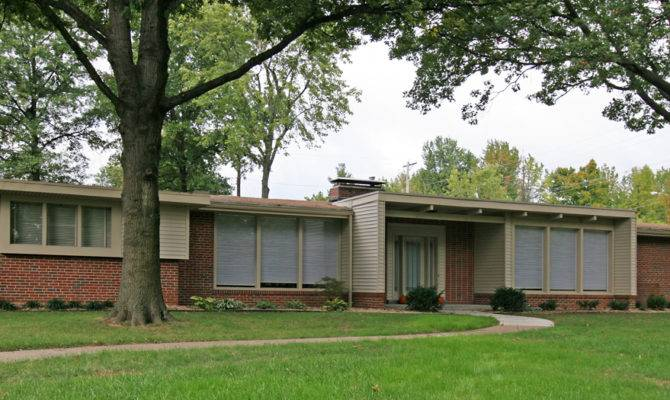 Mid Century Modern Ranch House Plans Brick