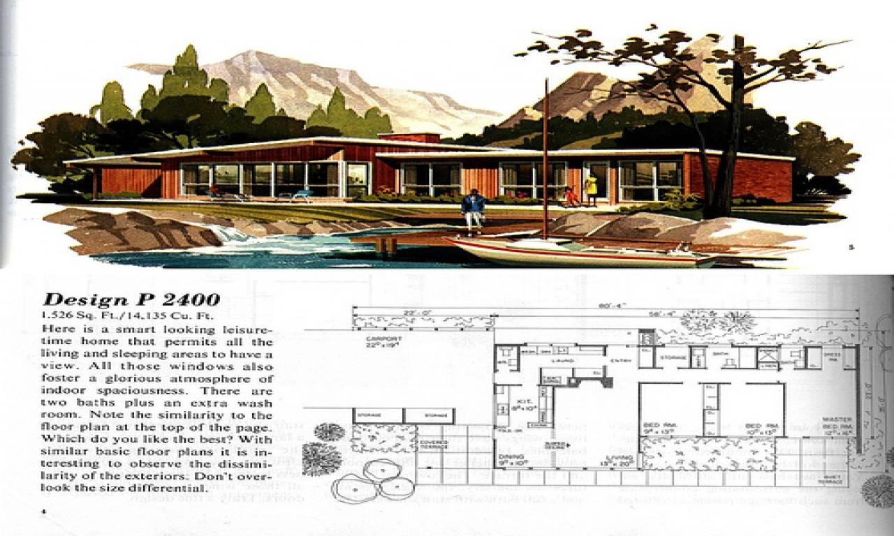 Picture of: Mid Century Ranch House Plans Also Modern House Plans 58303