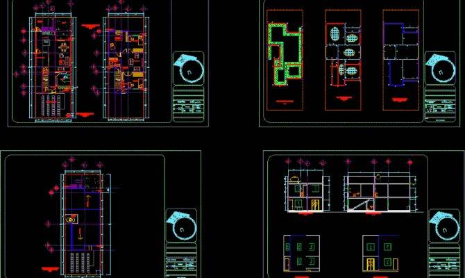 Middle Income Housing Storeys Bedrooms Bathrooms Autocad
