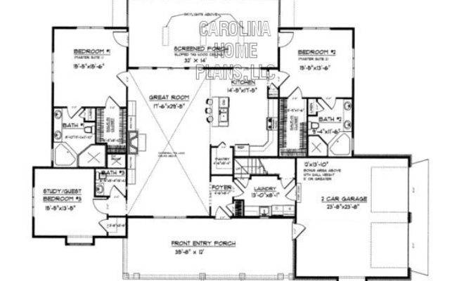 Midsize Country Craftsman House Plan Chp