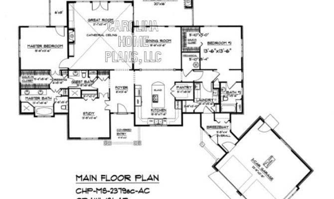 Midsize Craftsman House Plan Chp