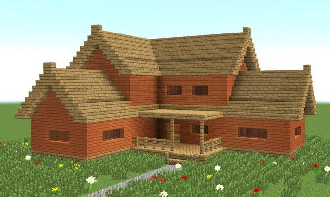 Minecraft Build Big Wooden House Youtube