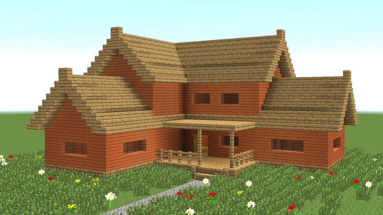 Minecraft Build Big Wooden House Youtube House Plans 143416