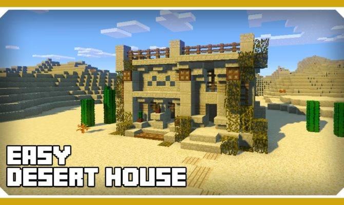 Minecraft Build Desert House Tutorial Easy
