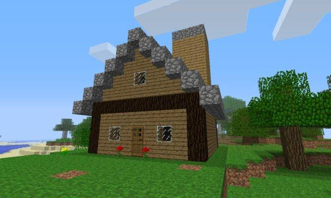 Minecraft Build House Beginners Parody