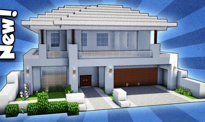 Minecraft Build Modern House Easy Tutorial House Plans 144155