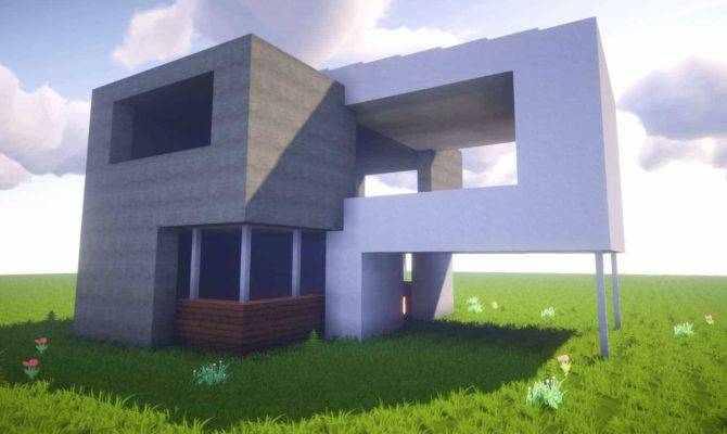 Minecraft Build Simple Modern House Best