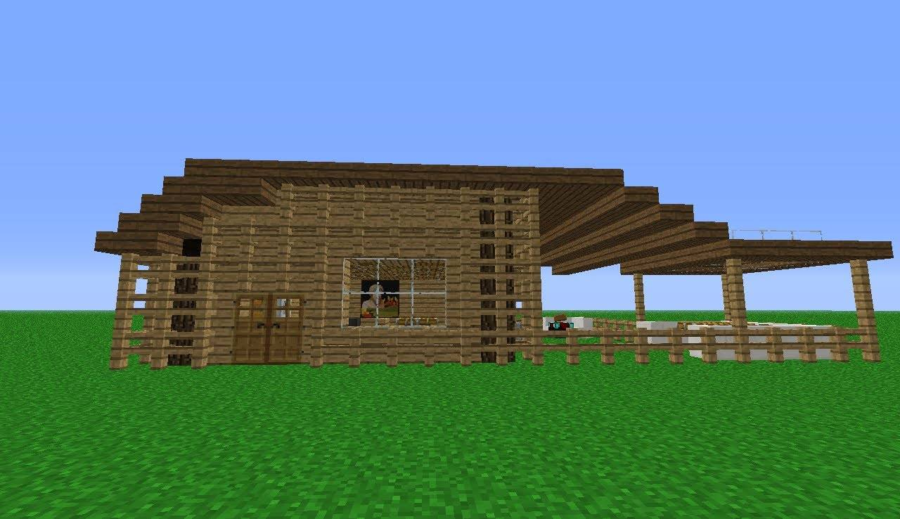 Minecraft Build Small Wooden House Youtube House Plans 41342