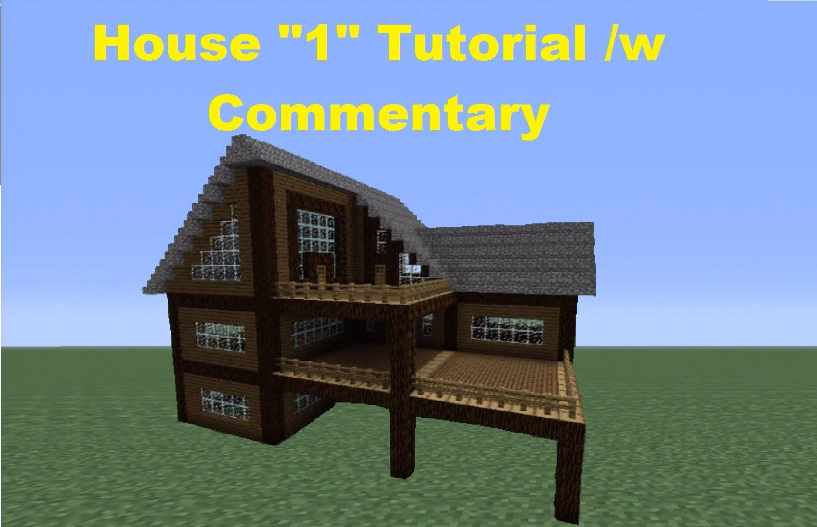 Minecraft Build Spruce Wood House Youtube - House Plans  #11