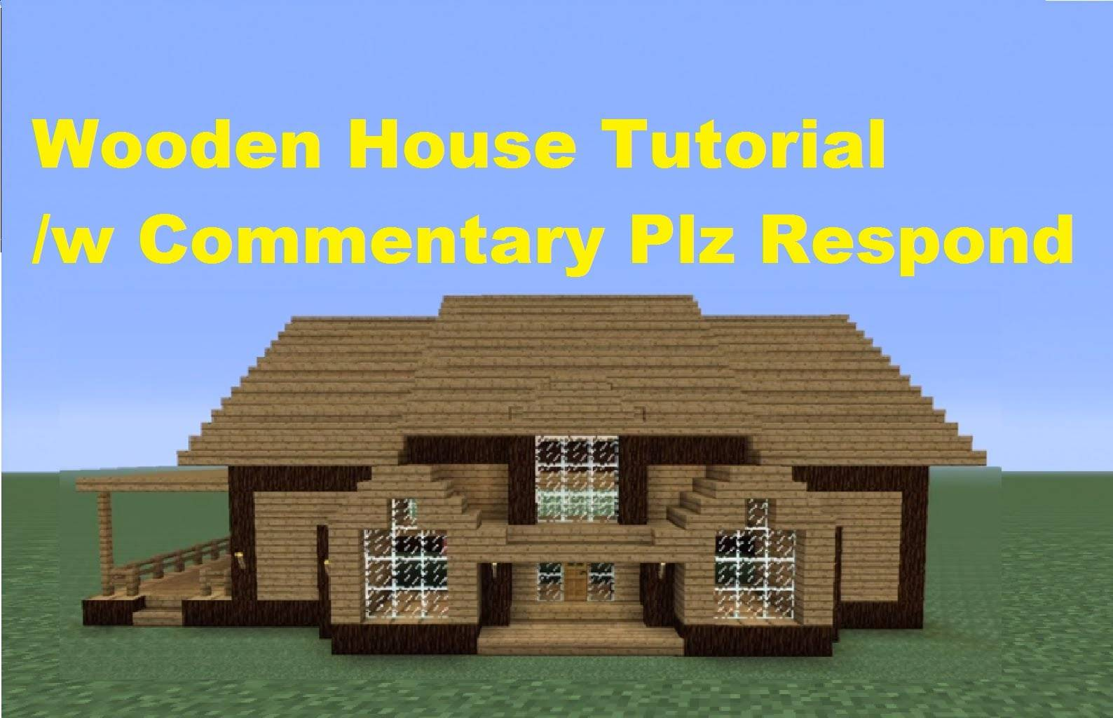 Minecraft Build Wooden House Number Youtube House Plans 53090