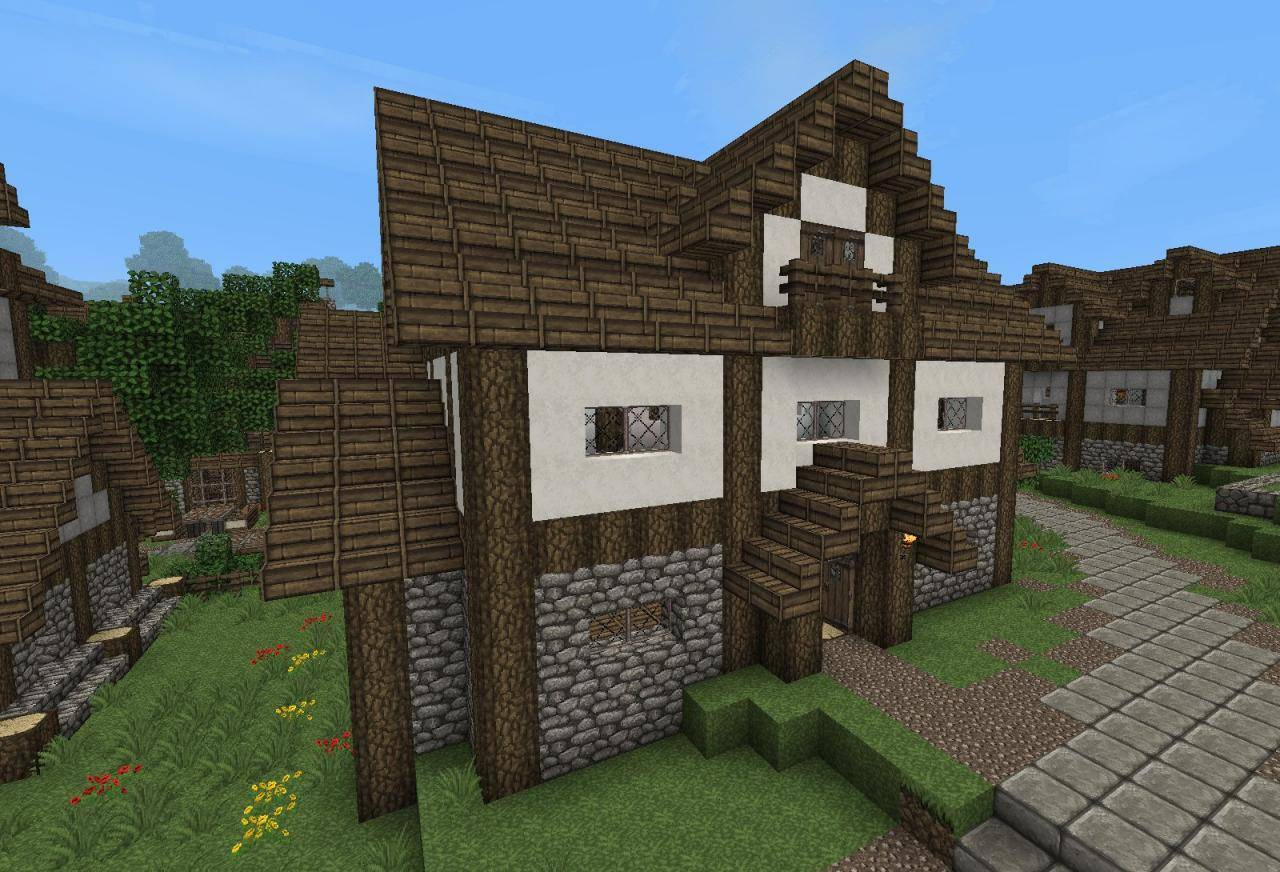 Minecraft Medieval Village House Designs House Plans 8984