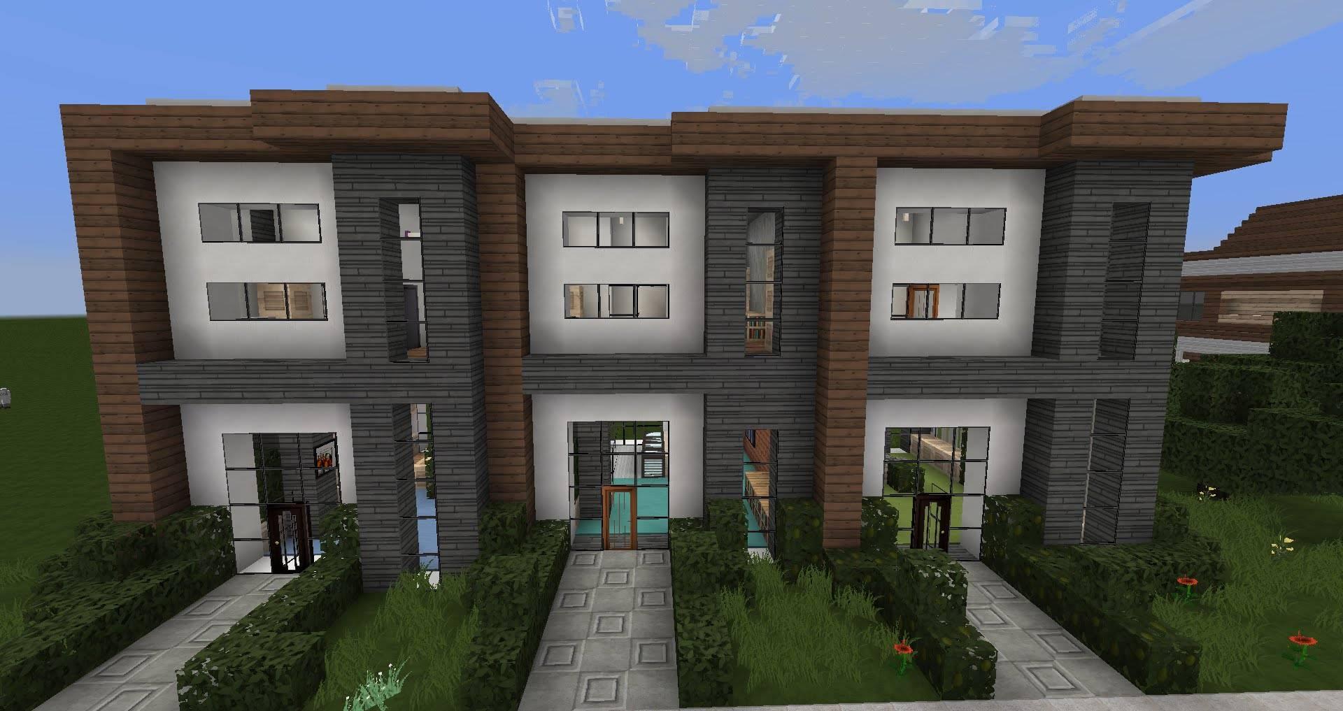 Minecraft Modern House Designs Row Youtube House Plans 108533