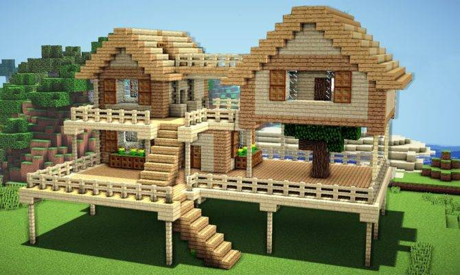 Minecraft Survival House Tutorial Build House Plans 132661