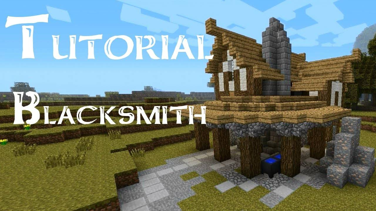 Minecraft Tutorial Build Medieval Blacksmith Youtube House Plans 53103