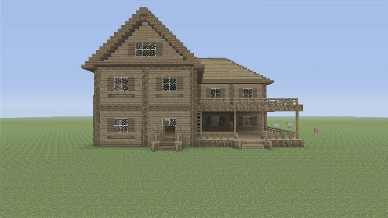 Minecraft Tutorial Easy House Youtube House Plans 144151