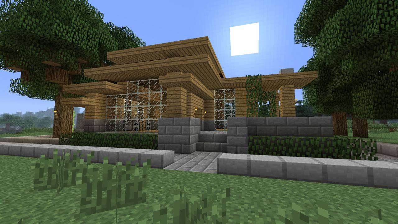 Minecraft Tutorial Modern Survival House Project - House Plans