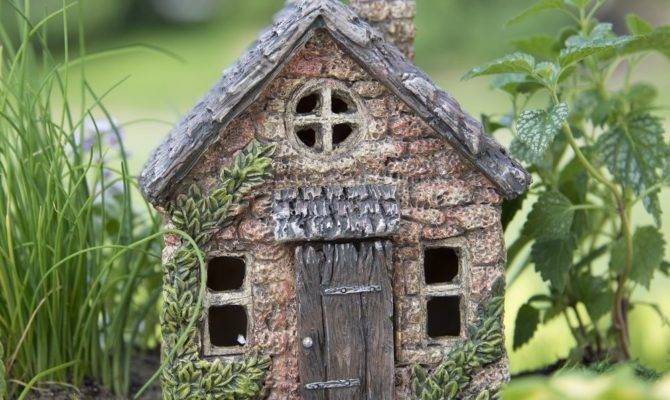 Mini Bucklin Cottage Terrarium Fairy Garden Miniature