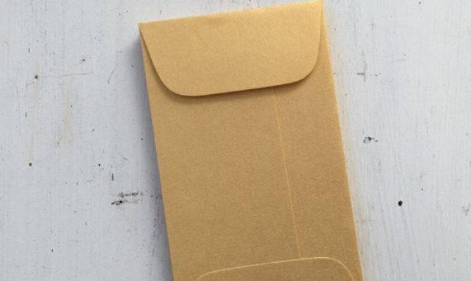 Mini Gold Envelopes Metallic Coin Envelope