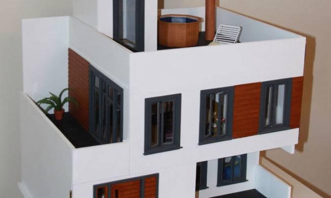 Mini Modern Contemporary Home Miniature