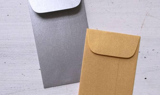 Mini Silver Envelopes Metallic Coin Envelope