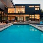 Minimal Pool Design Complements Style Contemporary House