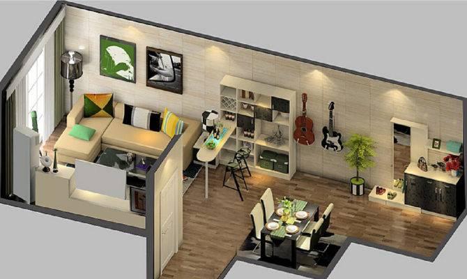 Minimalist Three Bedroom Suite Interior Design