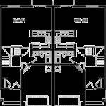 Mirrored Duplex House Plans Story