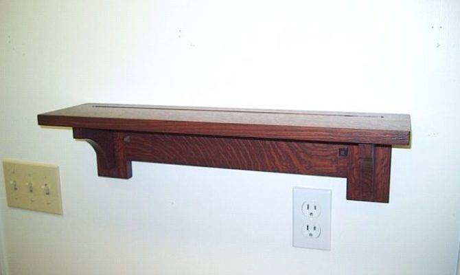 Mission Arts Crafts Style Plate Shelf Max