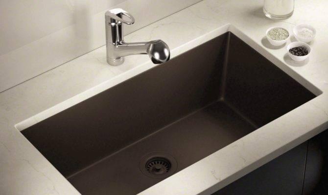 Mocha Large Single Bowl Undermount Trugranite Kitchen Sink