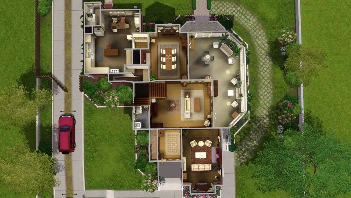 Mod Sims Halliwell Manor Charmed Store Cjb House Plans 6443