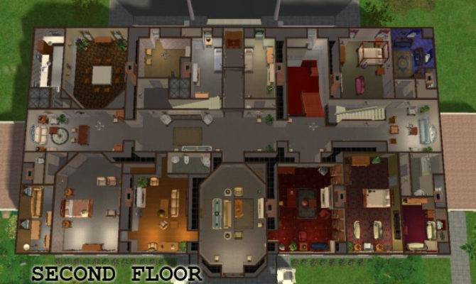 Mod Sims White House Fully Furnished Maxis