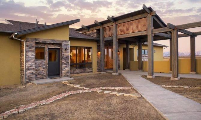 Modern Adobe Home Lamar Valley Craftsman