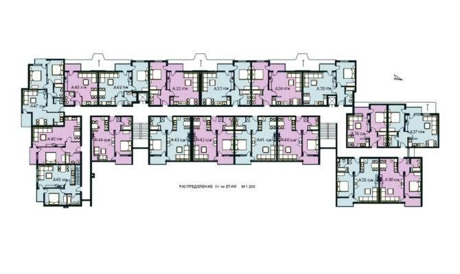 Modern Apartment Building Plan Complex Floor